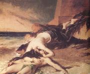 William Etty Hero and Leander (nn03) oil painting
